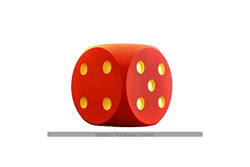 Masters Traditional Games Giant Foam Die - 50cm - RED