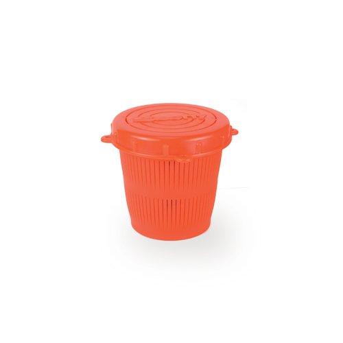 Scotty Vented Crab Diner Bait Jar c/w Lid 1/2 Litre Orange