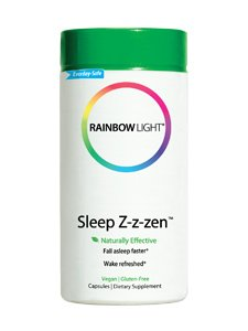 Healthy Sleep Patterns - Rainbow Light - Sleep Z-z-zen, Everyday Support for Healthy Sleep Patterns, Mental Calm and a Healthy Stress Response with L-Theanine, GABA and Melatonin, Vegan, Gluten-Free, 50 Capsules