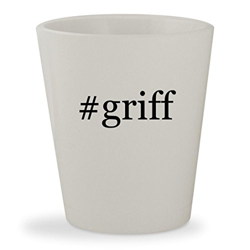 #griff - White Hashtag Ceramic 1.5oz Shot Glass