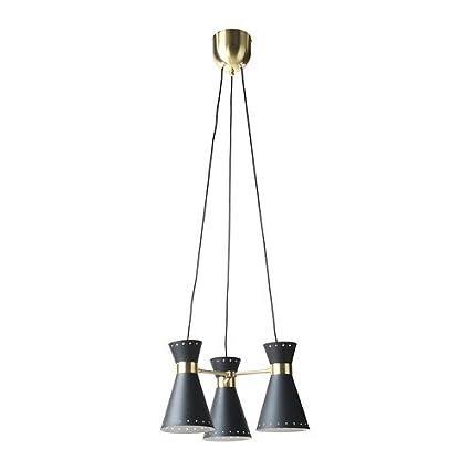 IKEA Arjeplog - 3-luz de lámpara de techo, latón negro ...
