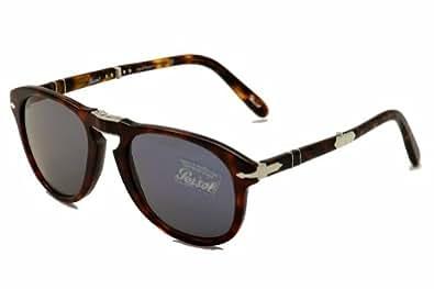 Persol Po0714sm Sunglasses 24/56 Havana Crystal Blue 52 21 140