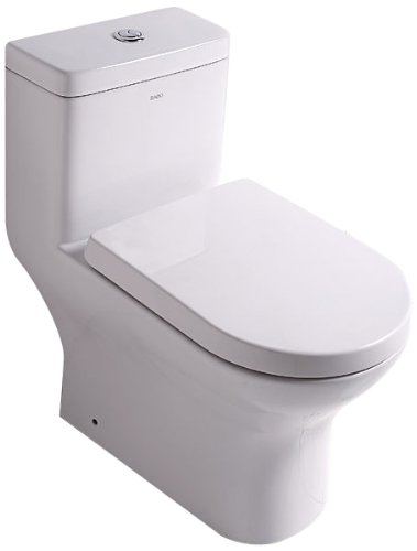 EAGO TB353 Dual Flush Eco-Friendly Ceramic Toilet, 1-Piece