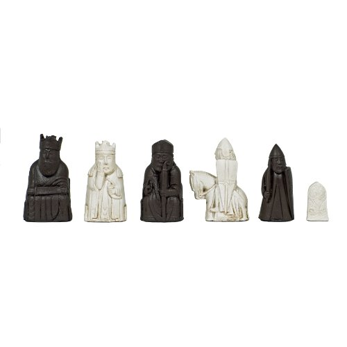 WE Games Isle of Lewis Antiquity Chessmen - Handpainted by Wood Expressions