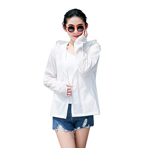 - Fine Women's Sun Protection Clothing Long Sleeve Sun Cooling UPF 50+ UV Cooling Sun Protection Body Shawl, Shrug for Driving or Beach Sun Protection Clothing (White, M)