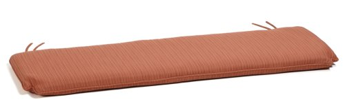 Oxford Garden 5-Foot Bench Cushion, Dupione Papaya