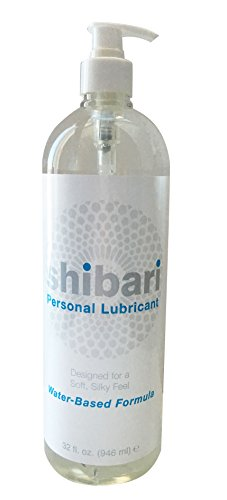 Shibari Water Based Intimate Lubricant, 32oz with Pump (Pleasure Pump)