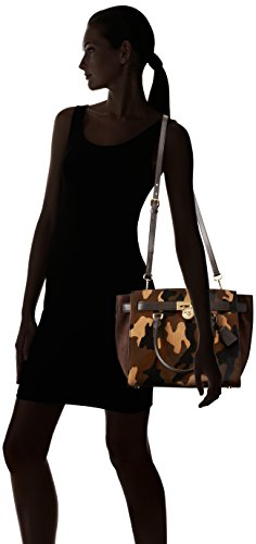 Michael Kors borsa donna a mano shopping in pelle nuova hamilton traveler marron