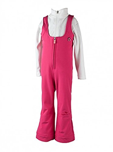 Obermeyer Kids Girls Snell Stretch Pant Smitten Pink 7 & E-tip Glove Bundle by Obermeyer