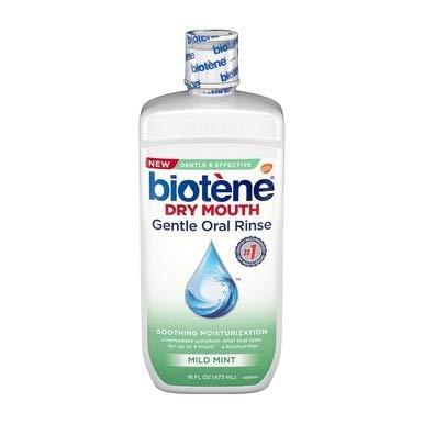 Biotene Dry Mouth Gentle Oral Rinse Soothing Moisturization, Mild Mint, 16 fl oz