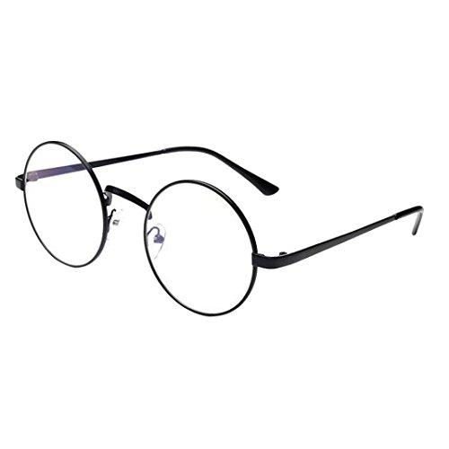 Misaky Classic Unisex Summer Vintage Retro Round Gradient Color Glasses Sunglasses (Black, 5.0)