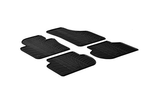 (Gledring 0074 Custom Fit All Weather Rubber Floor Mats - 2011-2017 Volkswagen VW Jetta - 4 Piece Set - Black )