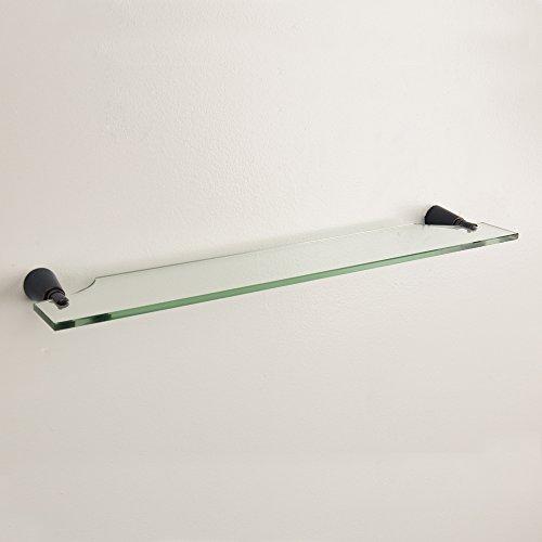 Buy oil rubbed bronze glass shelf