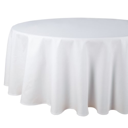 Riegel DPA-90RD-WHT Restaurant Series Round Combed Cotton Pique Tablecloth, 90-Inch, White by Riegel