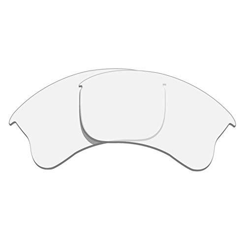 Glintbay 100% Precise-Fit Replacement Sunglass Lenses for Oakley Flak Jacket XLJ - Crystal Clear ()