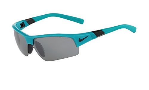 Nike Grey with Silver Flash/Grey Lens Show X2 XL Sunglasses, Turbo - X2 Show Nike Sunglasses