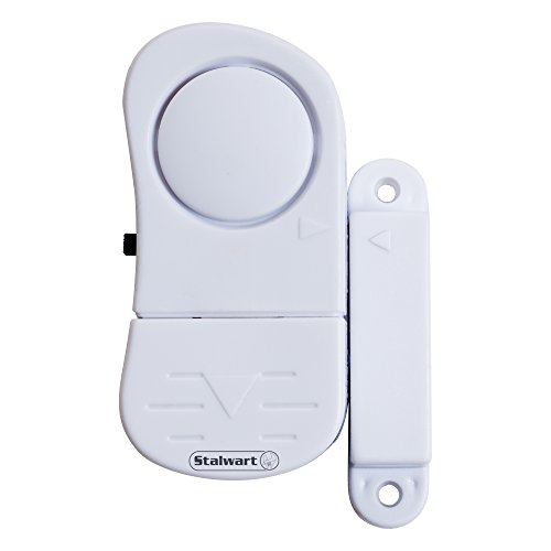 Stalwart Door and Window Alarm - Wireless Magnetic Anti-Theft and Burglary Sensors for Home and Business Protection and Security (Set of 8)