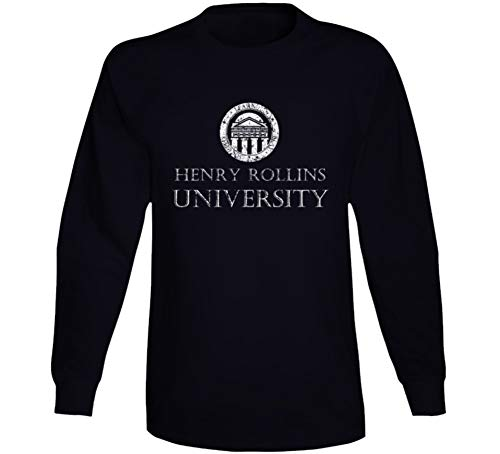 Henry Rollins University Comedian Comedy Worn Look Cool Fan Long Sleeve T Shirt XL Black (Rollins Henry Shirt)