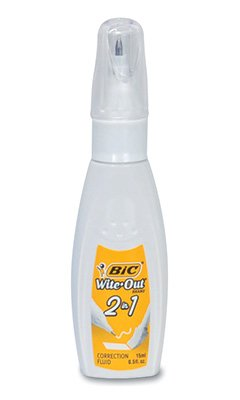 Bic Wite-Out 2-in-1 Correction Fluid (1 Bottle) - AB-500-7-03 by Miller Supply Inc