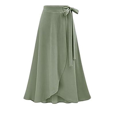 Wholesale Macondoo Womens Fall Winter High Waist Solid Irregular Slit Long Skirt supplier