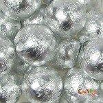 Foiled Solid Milk Silver Balls: 1 Lb WLM (Milk Balls Chocolate Solid)