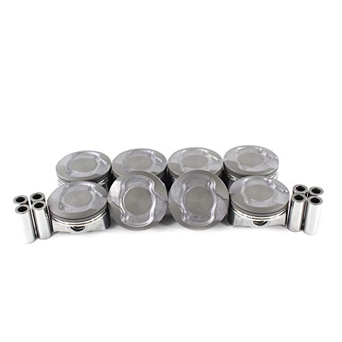 (DNJ P1102 Piston Set for 2008-2013 / Chrysler, Dodge, Jeep, Ram / 1500, Aspen, Commander, Dakota, Durango, Grand Cherokee, Ram 1500/4.7L / SOHC / V8 / 16V / 285cid / VIN N, VIN P)