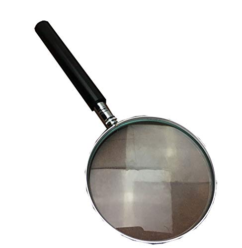 - Xiguan HD Reading Magnifier, Old Man Reading, Student Outdoor Observation Portable Magnifying Mirror (Color : Dark Gray)