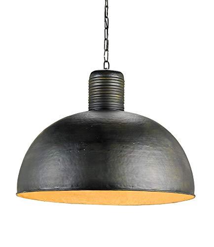 - Currey and Company 9781 Saga - One Light Pendant, Dark Blackened Steel Finish