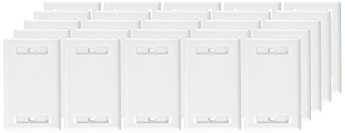 (Hubbell IFP11W Flush Phone/Data/Multimedia Wall Plate, 1 Gang, 1 Port, White (Pack of 25))
