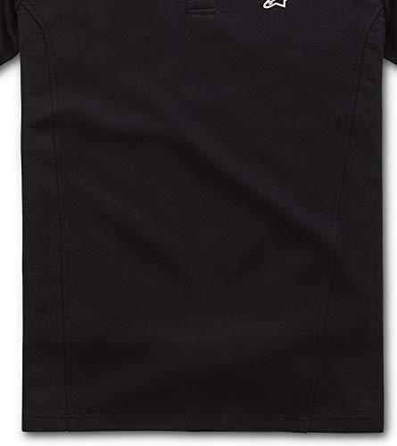 corta gomma tessuto uomo Camicia manica petto classico piqué Alpinestars nero logo Polo petto Capital xFIP6