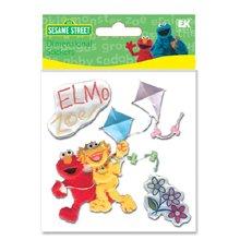Sesame Street 3D Stickers-Elmo & Zoe Furry