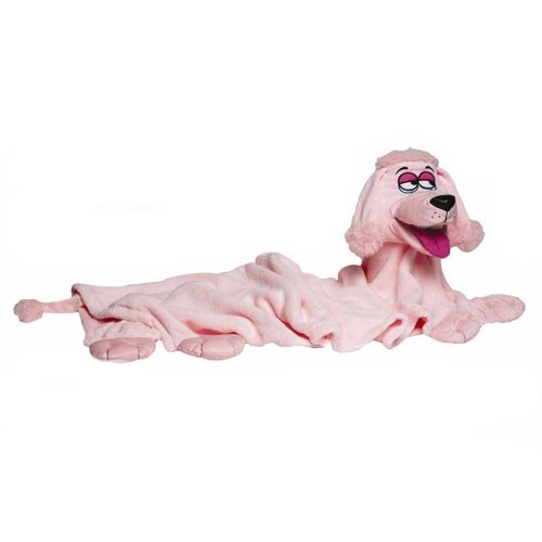 Snuggle Pets Soft Cuddle Puppet Kids Fun Blanket Pink Dog Artis