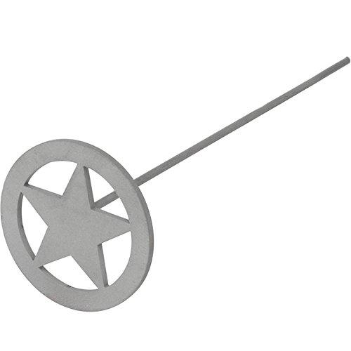 BBQ Fans Mini Circle Star Wood/Leather Branding Iron