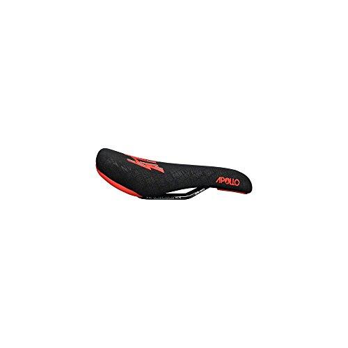 Sdg Foam Saddle - SDG Apollo Sensus Saddle: Cro-Mo Rails, 1pc Black Aramid Embossed Cover With Red Sensus Logo and Colored Bumpers