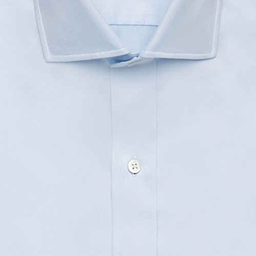 The Blue Fine Twill Spread Dress Shirt by Ledbury (Image #1)