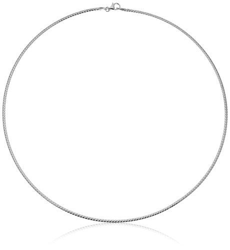14k Italian White and Yellow Gold Reversible 1.7mm Flexible Omega Chain Bracelet, 17