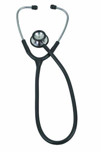 (Veridian 05-10501 Pinnacle Series Stainless Steel Adult Stethoscope, Black by Veridian)