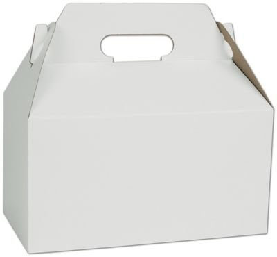 EGP White Gable Boxes, 9 1/2'' x 5'' x 5'', 125 Boxes, BOWS-250-090505-9