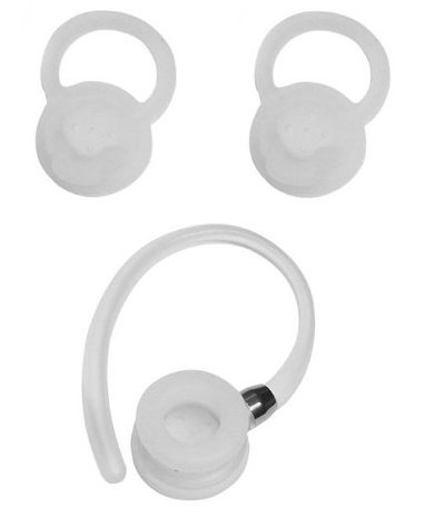 OEM Motorola 3 Sizes Replacement Earbuds Tips Ear Gels Bud Cushions and 2 Ear Hooks for Hx550 Hz720 H19txt H17txt H17 (Motorola Accessories Bluetooth)
