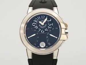 ハリーウィンストン HARRY WINSTON オーシャン バイレトロ 400/UABI36W ブラック文字盤 レディース 腕時計 【中古】 B077S515KQ