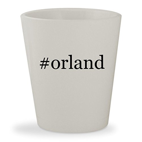 #orland - White Hashtag Ceramic 1.5oz Shot - Park Stores Il Orland In