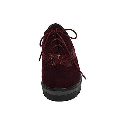 XTI , Damen Schnürhalbschuhe, Rot - burgunderrot - Größe: 38