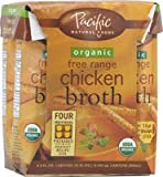 Pacific Natural Foods Organic Free Range Chicken Broth -- 8 fl oz Each / Pack of 4 - 2 pc