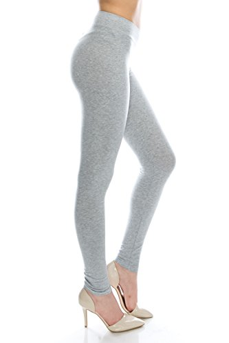 Cotton Spandex Basic leggings for women plus size 3x H.Gray -