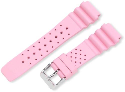 Momentum ZC-20TWS PINK 19 M1 Twist Rubber Watch Strap