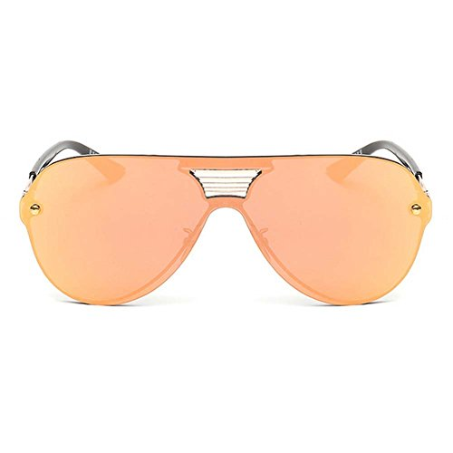 LOMOL Fashion Trendy Metal Frame Reflective Lens UV Protection Personality - Sunglasses Clearance Costa