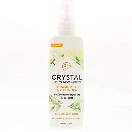 Crystal Essence Mineral Deodorant Spray, Chamomile & Green Tea 4 oz (Pack of (Essence Deodorant Spray)