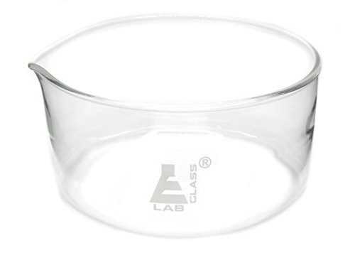 Extra Large Crystallizing Dish with Spout and heavy rim - 2000ml Capacity, Boroscilicate Glas, OD 190mm