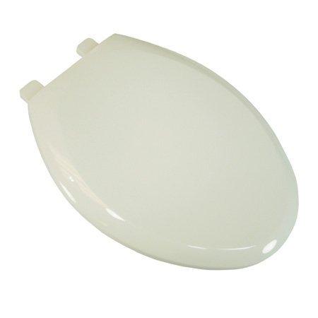 (Comfort Seats C1B3E4S-04 EZ Close Deluxe Plastic Elongated Toilet Seat, Cotton White)