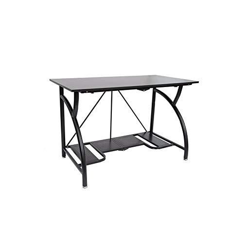 Origami Multi Purpose Folding Wooden Office Computer Furniture Table Desk, Black